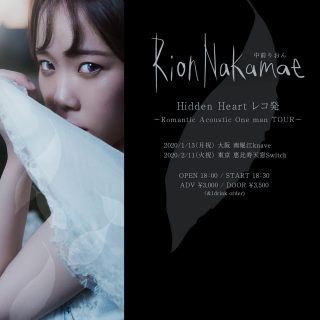 『Hidden Heart』レコ発ワンマンライブ〜Romantic Acoustic One man〜大阪公演